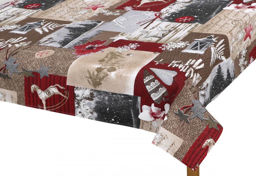 Vánoční ubrus 70x70 cm Zasněžené Vánoce č.1