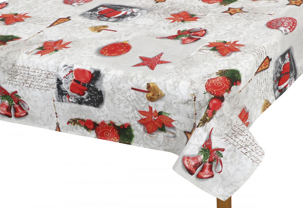 Vánoční ubrus 70x70 cm Vánoční ozdoby č.1