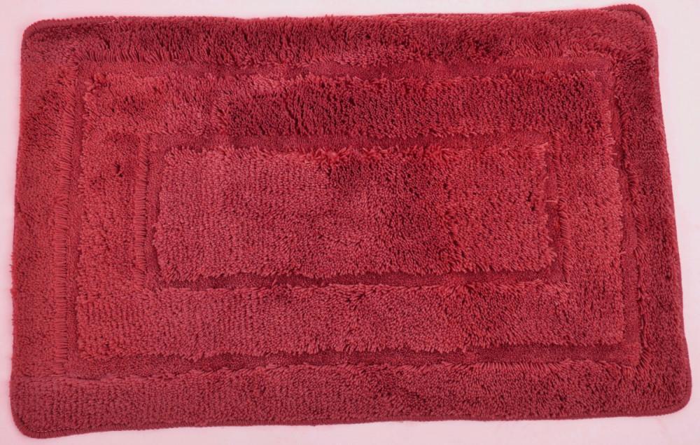 Koupelnová předložka 50x80 cm ACRYL, červená č.1