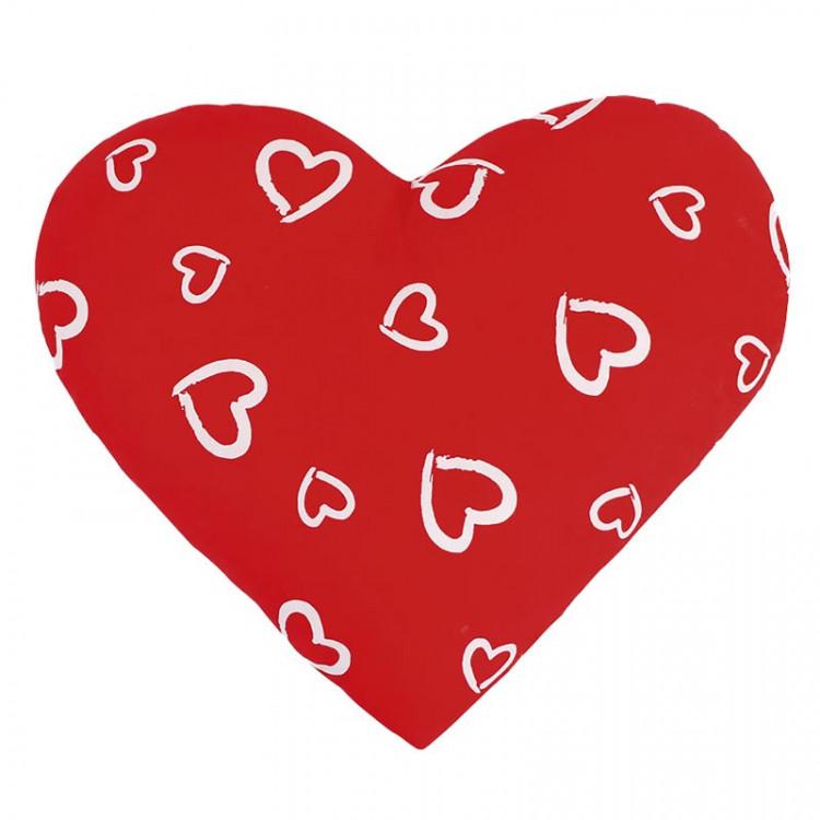 Dekorativní polštářek Srdce červené č.1