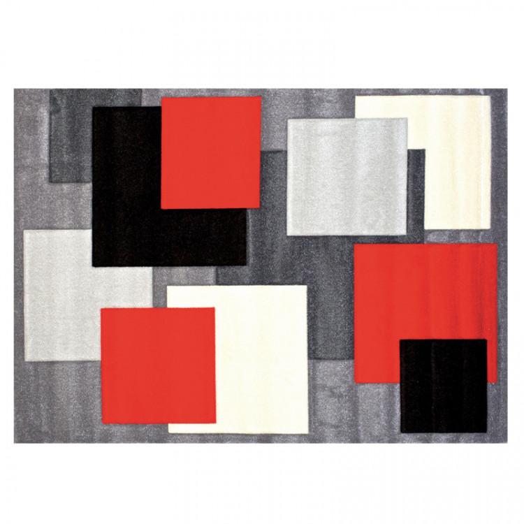 Kusový koberec Orfa Rumba 80x150 8423 grey red č.1