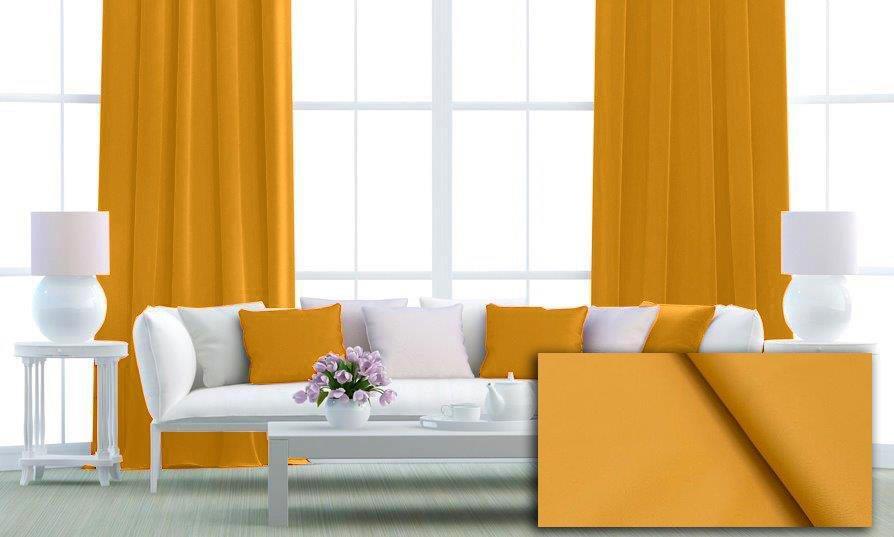 Zatemňovací tkanina 150 cm, black out, žlutá č.1