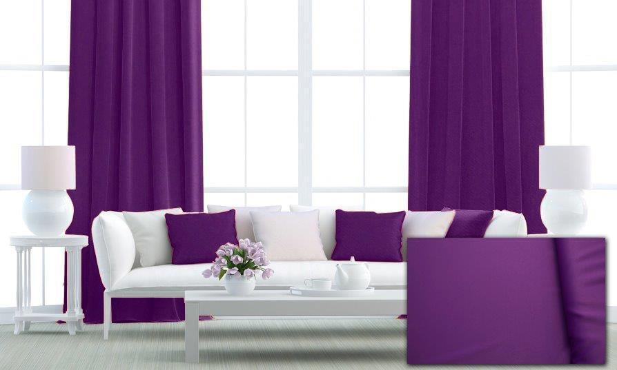 Zatemňovací tkanina 150 cm, black out, fialová č.1