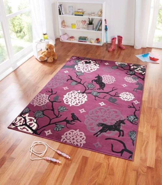 Kusový koberec Bambini 102794 Einhorn 140x200 cm č.2