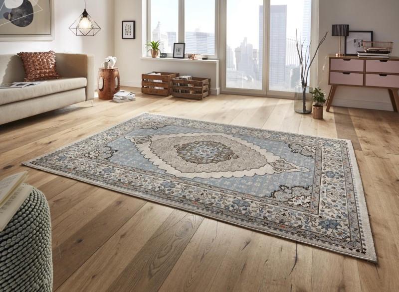 Kusový koberec Classico 102705 blau grau č.1