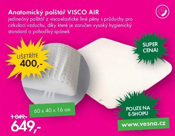 Anatomický polštář VISCO AIR