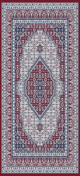 Kusový koberec Silkway W2308 red - 80 x 300 cm č.1