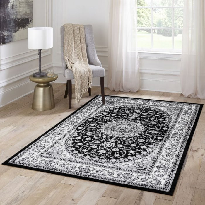 Kusový koberec Silkway X084B black - 80 x 150 cm č.2