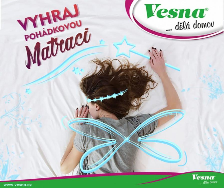Soutěžte s Vesnou a vyhrajte matraci STANDARD