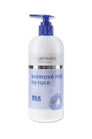 VIVAPHARM Kozí krémové mýdlo na ruce 400 ml č.1