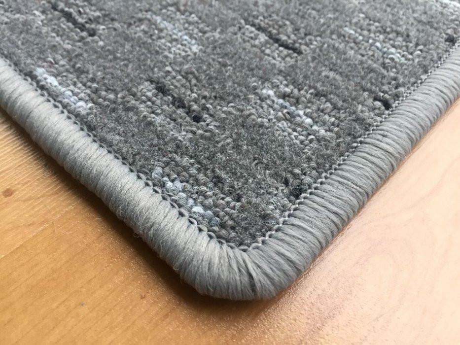 Kusový koberec Valencia šedá - Kulatý průměr 200 cm č.3