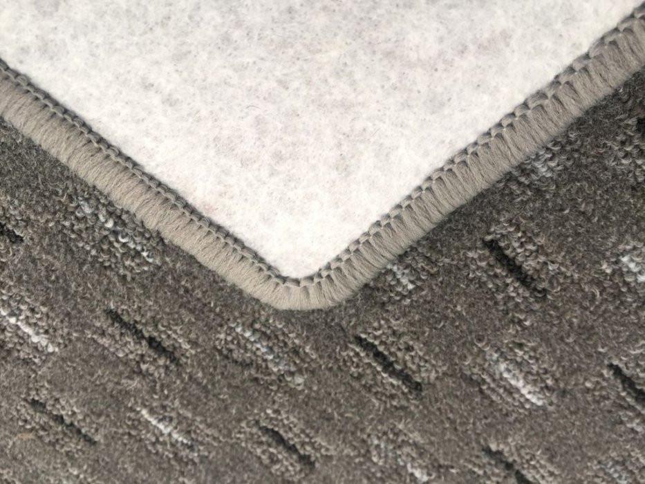 Kusový koberec Valencia šedá - Kulatý průměr 200 cm č.5