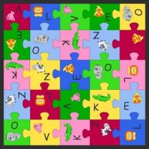Dětský koberec Puzzle