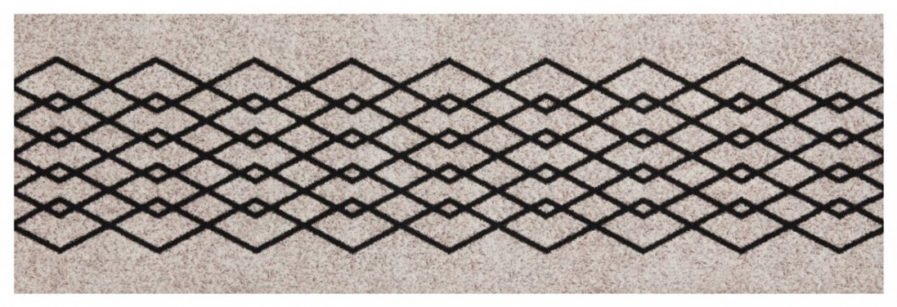 Běhoun Modern Wave 60x180 Cook & Clean 103364 creme black č.1