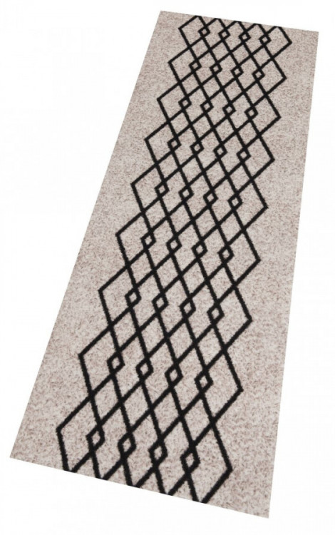 Běhoun Modern Wave 60x180 Cook & Clean 103364 creme black č.4