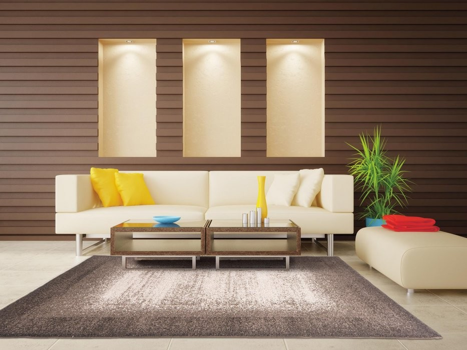 Kusov koberec nepal 3155 brown vesna for Room design in nepal