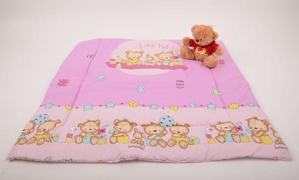 Růžová deka na hraní 135 x 100 cm.