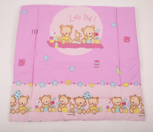 Dětská bavlněná deka s motivem medvídků.