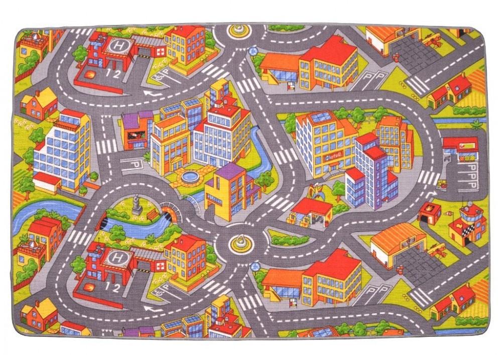 Dětský koberec silnice RALLY 140x200 cm